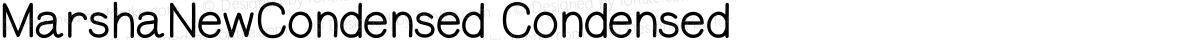 MarshaNewCondensed Condensed