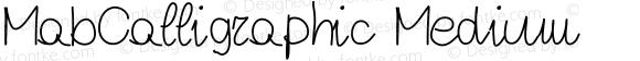 MabCalligraphic Medium Version 001.000