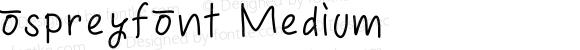 ospreyfont Medium
