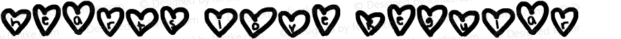 hearts love Regular Lanier My Font Tool for Tablet PC 1.0