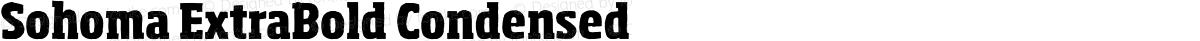 Sohoma ExtraBold Condensed