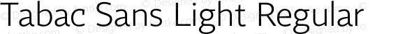 Tabac Sans Light Regular
