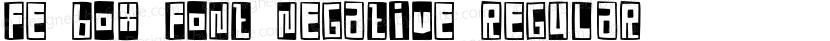 FE Box Font Negative Regular Preview Image