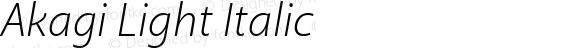 Akagi Light Italic