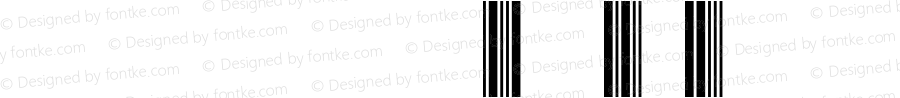 FFontCodeINT2of5H3 Regular Version 001.001