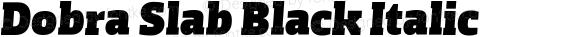 Dobra Slab Black Italic
