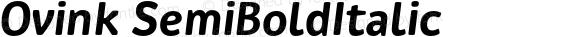 Ovink-SemiBoldItalic
