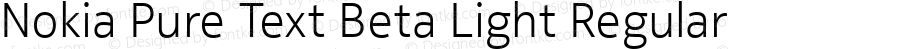 Nokia Pure Text Beta Light Regular Version 0.03