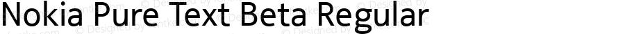 Nokia Pure Text Beta Regular Version 0.03
