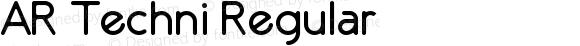 AR Techni Regular Version 1.00 December, 2010