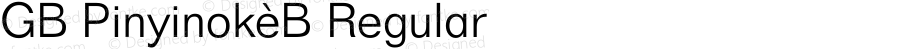 GB Pinyinok-B Regular 1.33
