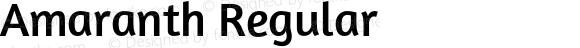Amaranth Regular Version 1.000