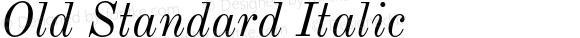 Old Standard Italic Version 2.2