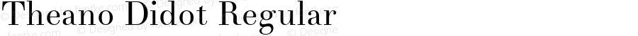 Theano Didot Regular Version 2.0