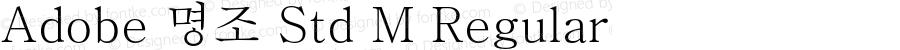 Adobe 명조 Std M Regular Version 1.008;PS 1.004;hotconv 1.0.64;makeotf.lib2.0.25650