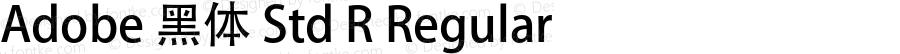 Adobe 黑体 Std R Regular Version 5.011;PS 5.006;hotconv 1.0.64;makeotf.lib2.0.25650