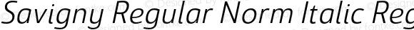 Savigny Regular Norm Italic Regular Italic