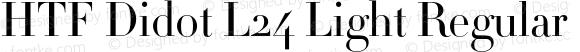 HTF Didot L24 Light Regular Version 1.200