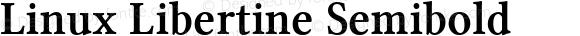 Linux Libertine Semibold