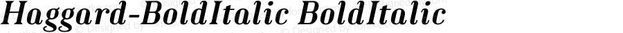 Haggard-BoldItalic BoldItalic Version 1.000