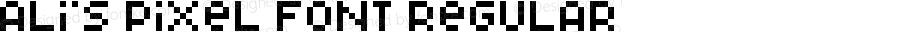 Ali's Pixel Font Regular Version 1.0