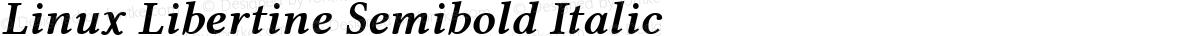Linux Libertine Semibold Italic