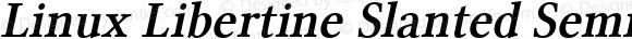 Linux Libertine Slanted Semibold Slanted