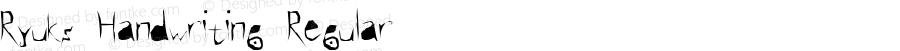 Ryuks Handwriting Regular Version 1.00