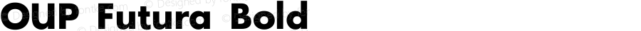 OUP Futura Bold Macromedia Fontographer 4.1.5 8/8/98
