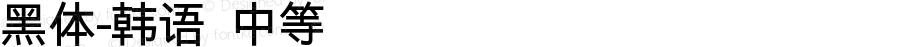 黑体-韩语 中等 7.0d12e2