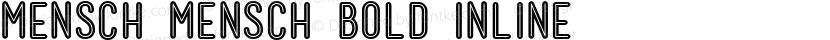 Mensch Mensch Bold Inline Preview Image