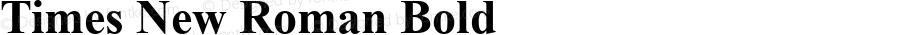 Times New Roman Bold Version 5.70