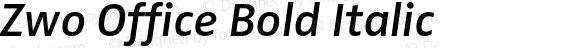 Zwo Office Bold Italic 4.313