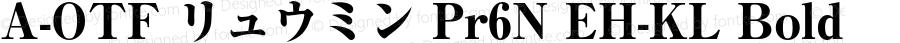 A-OTF リュウミン Pr6N EH-KL Bold Version 1.004;PS 1.2;hotconv 1.0.55;makeotf.lib2.0.20810