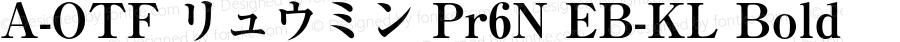A-OTF リュウミン Pr6N EB-KL Bold Version 1.004;PS 1.2;hotconv 1.0.55;makeotf.lib2.0.20810