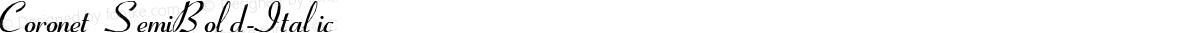 Coronet SemiBold-Italic