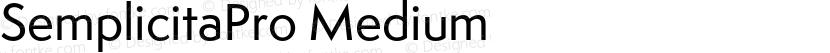 SemplicitaPro Medium Preview Image