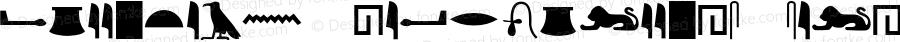 Egyptian Hieroglyphs Silhouette Regular Version 1.000;PS 001.001;hotconv 1.0.56