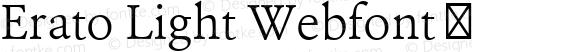 Erato Light Webfont