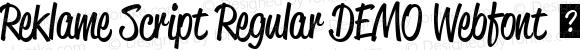 Reklame Script Regular DEMO Webfont
