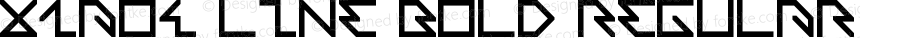 x1ao4 line bold Regular Version 1.00 September 12, 2011, initial release