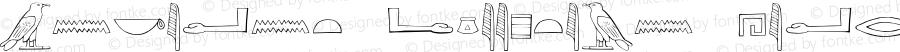 Ancient Egyptian Hieroglyphs Regular Version 1.000;PS 001.001;hotconv 1.0.56