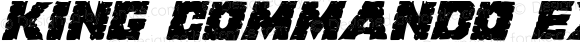 King Commando Expanded Italic Expanded Italic