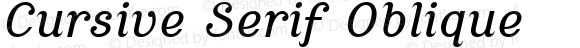Cursive Serif Oblique