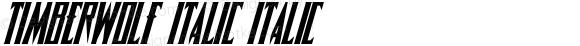 Timberwolf Italic Italic 001.000