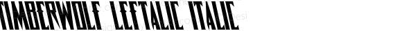 Timberwolf Leftalic Italic 001.000