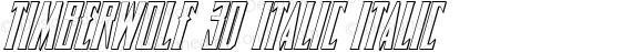 Timberwolf 3D Italic Italic 001.000