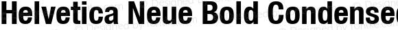 Helvetica Neue Bold Condensed Oblique