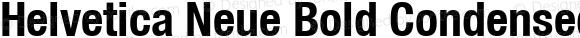 Helvetica Neue Bold Condensed