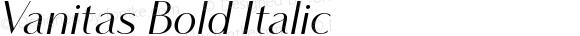 Vanitas Bold Italic